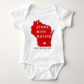 I Stand With Scott Walker Baby Bodysuit