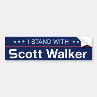 I Stand With Scott Walker Bumper Sticker