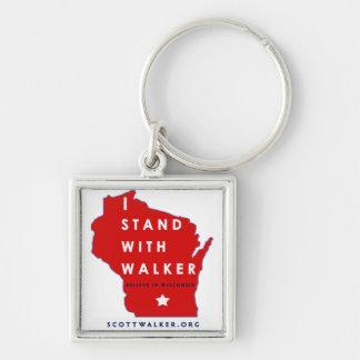 I Stand With Scott Walker Keychain