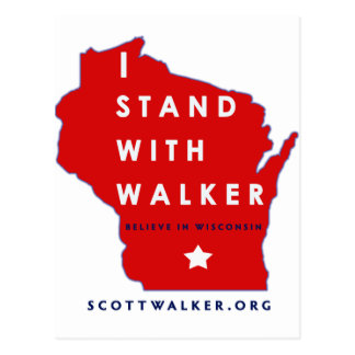 I Stand With Scott Walker Postcard