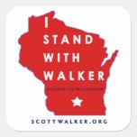 I Stand With Scott Walker Square Sticker
