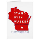 I Stand With Scott Walker Stationery Note Card