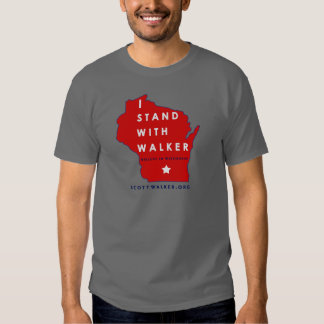 I Stand With Scott Walker T-shirts