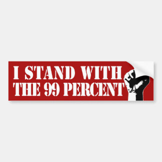 I Stand With the 99% Bumper Sticker