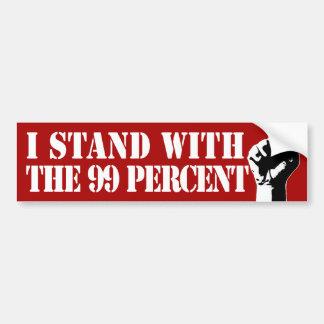 I Stand With the 99% Bumper Sticker Car Bumper Sticker