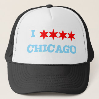 I STAR STAR STAR STAR CHICAGO TRUCKER HAT