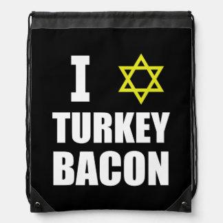I Star Turkey Bacon Drawstring Bag