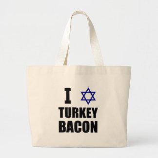 I Star Turkey Bacon Large Tote Bag