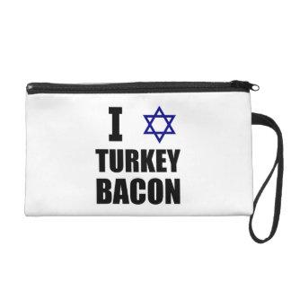 I Star Turkey Bacon Wristlet Purse