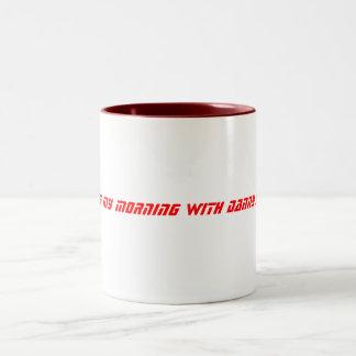 I start my morning with Danny Jay! Two-Tone Coffee Mug