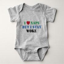 I Stay Woke (BLM back) Baby Bodysuit