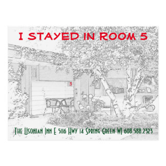 I stayed in ROOM 5 - post card