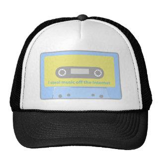 I STEAL MUSIC OFF THE INTERNET CASSETTE TRUCKER HAT