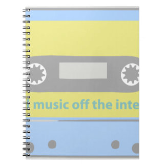 I STEAL MUSIC OFF THE INTERNET CASSETTE SPIRAL NOTEBOOKS