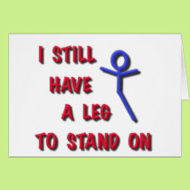 I Still Have a Leg to Stand on, red,blue,stickman Card