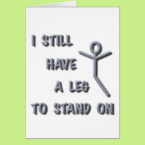 I Still Have a Leg to Stand on,silver,stickman Card