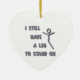 I Still Have a Leg to Stand on,silver,stickman Ceramic Ornament