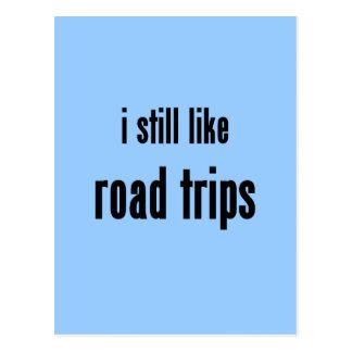 i still like road trips postcard