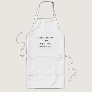 I still like to look at girls-apron long apron