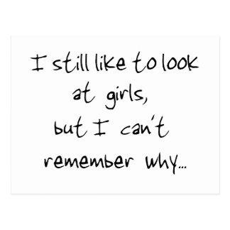 I still like to look at girls-postcard postcard
