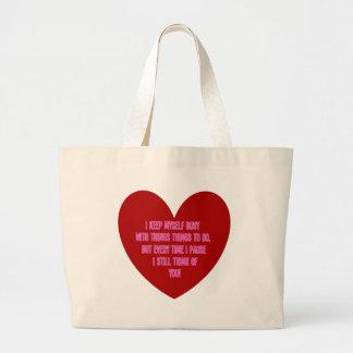 I still think of you... jumbo tote bag