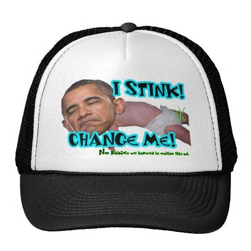 "I Stink - Change Me ""Obama Stinks"" Trucker Hat"
