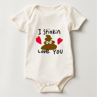 I Stinkin Love You Baby Bodysuit