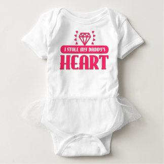 I Stole My Daddy's Heart Baby Bodysuit