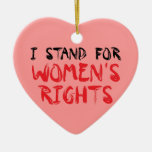 I stood for women's rights for Christmas ornamenta Christmas Tree Ornaments