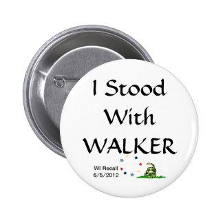 I Stood with Gov Scott Walker Pinback Button