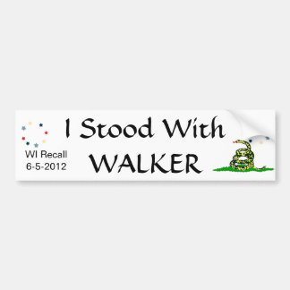 I Stood with Walker Car Bumper Sticker
