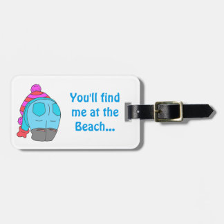 I stoop for sea glass - find me at the beach tag. bag tag