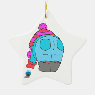 I stoop for Sea Glass star ornament