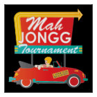 I Stop for Mah Jongg Retro Sign