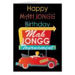 I Stop for Mah Jongg Retro Sign Greeting Card