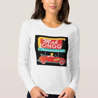 I Stop for Mah Jongg Retro Sign T-Shirt