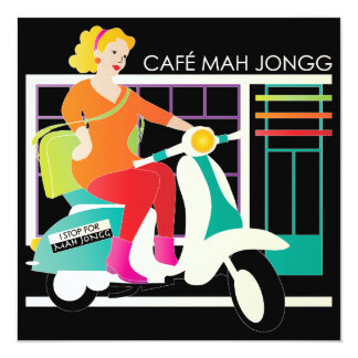I Stop for Mah Jongg Scooter Card