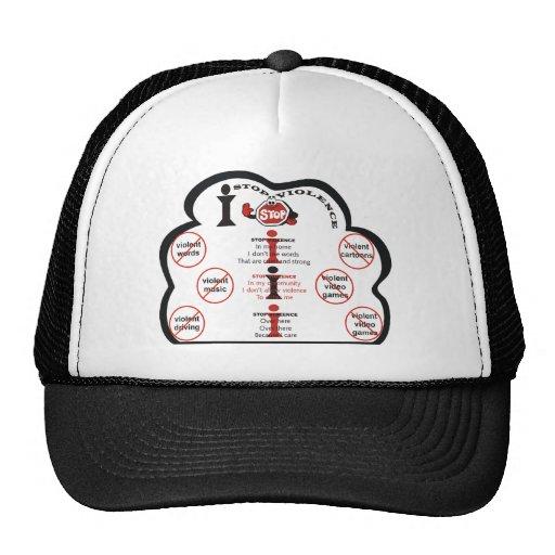 I Stop Violence Cap Trucker Hat