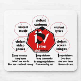 I Stop Violence© Mouse Pad