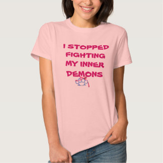 I STOPPED FIGHTING-KnuckleBow Tee Shirts