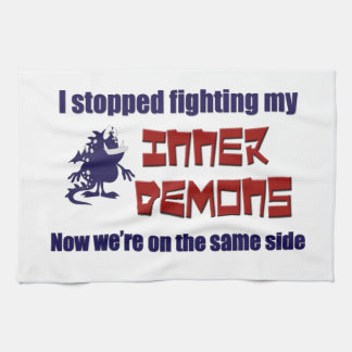 I Stopped Fighting My Inner Demons Towels