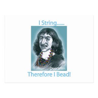 I String Therefore Postcard