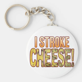 I Stroke Blue Cheese Keychain
