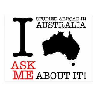 I Studied in Australia! Postcard