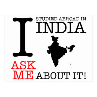 I Studied in India! Postcard