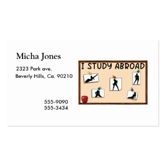 I Study Abroad Double-Sided Standard Business Cards (Pack Of 100)