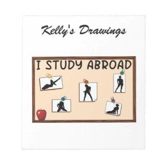 I Study Abroad Memo Pad