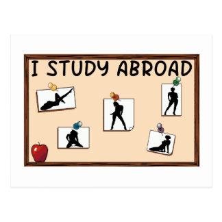 I Study Abroad Postcard