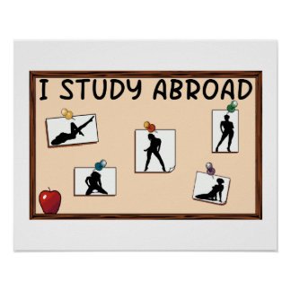 I Study Abroad Poster