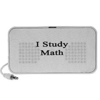 I Study Math Portable Speaker